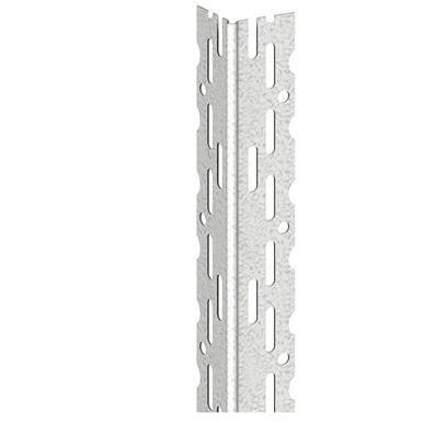 A rigid bead suitable for skim coat plastering on either plasterboard or smooth block. Perforated wings with nail location holes.